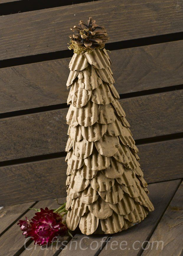 Beautiful textures for fall, and it's rustic yet elegant. Topiary tutorial on CraftsnCoffee.com. #RusticFallDecor