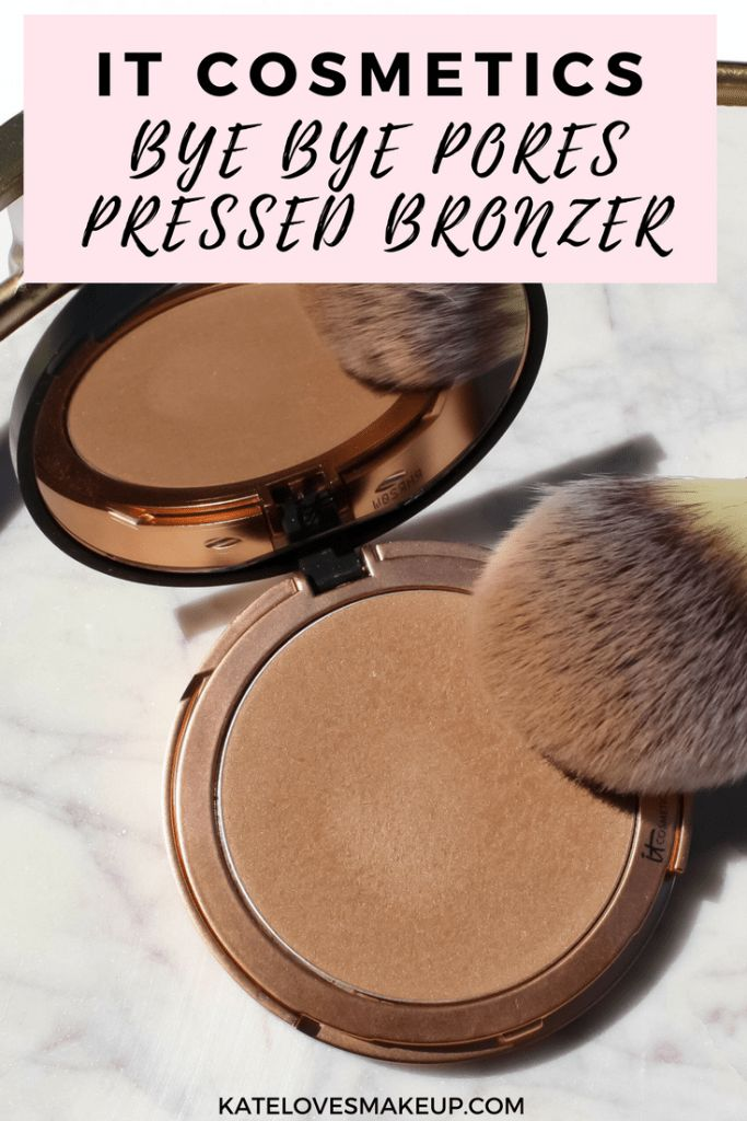 NEW IT COSMETICS BRONZER | Kate Loves Makeup beauty blogger shares her review of the new IT Cosmetics Bye Bye Pores Pressed Bronzer