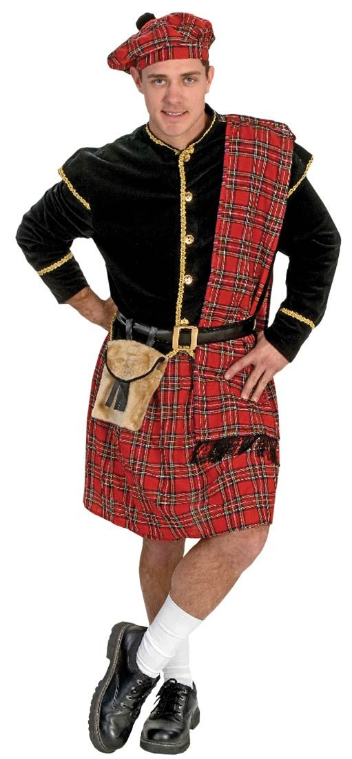 Scottish Clansman Adult Costume - Scottish Costumes