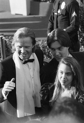 """The 60th Annual Academy Awards"" Jon Voight, Angelina Jolie, James Haven"
