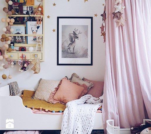 Pokój dziecka, styl skandynawski - zdjęcie od domsli22 pink power | moskitiera | baldachim |  kids room | scandi | scandinavian | vintage | boho style | home | inspiration | design | minimalism | children | canopy | tipi