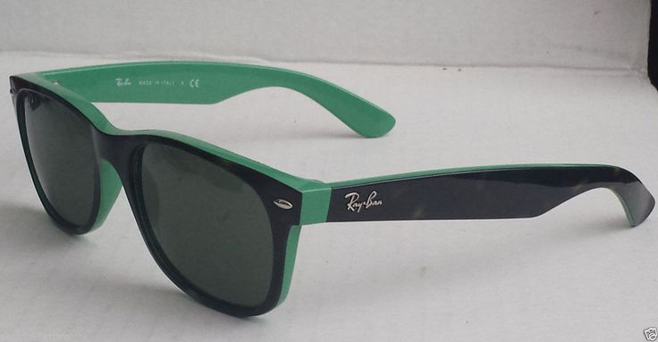 Ray-Ban #wayfarer sunglasses RB2132 black with green Made in Italy (no tags) visit our ebay store at  http://stores.ebay.com/esquirestore