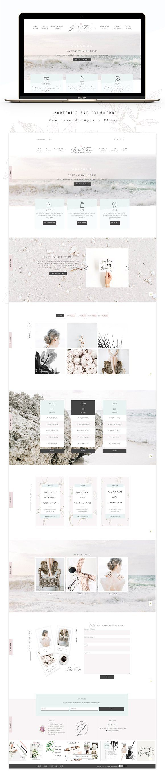 Photography eCommerce Genesis theme by Lovely Confetti on @creativemarket