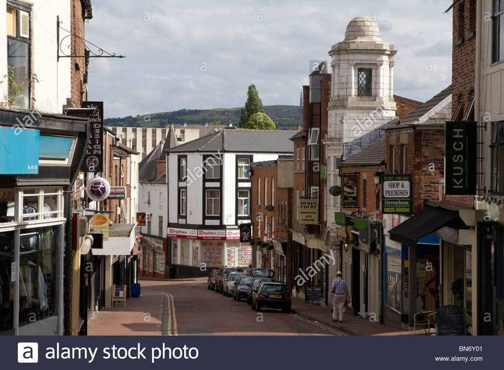 Macclesfield Town Centre High Street Cheshire England Uk Gb Stock Photo, Royalty Free Image: 30271025 - Alamy