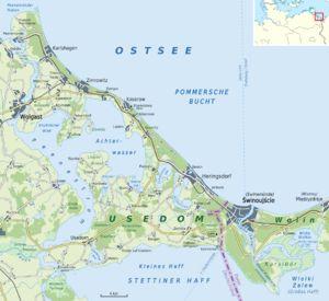 Karte: Die Insel USEDOM