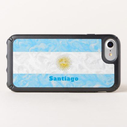 Personalized Argentinian Flag Design Speck iPhone Case - blue gifts style giftidea diy cyo
