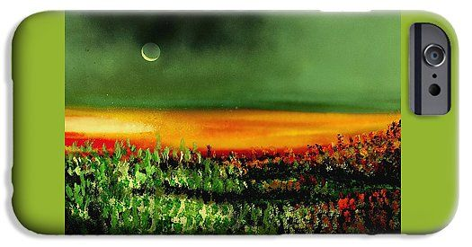 Twilight Field IPhone 6s Case Printed with Fine Art spray painting image Twilight Field by Nandor Molnar (When you visit the Shop, change the orientation, background color and image size as you wish)