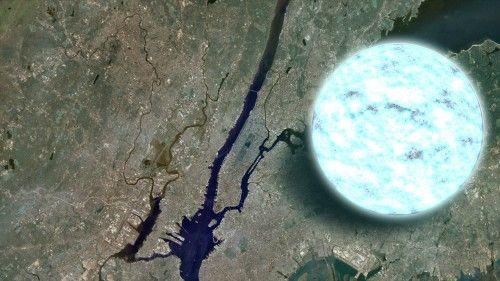 Neutron stars are smaller than New York City.  Wow.