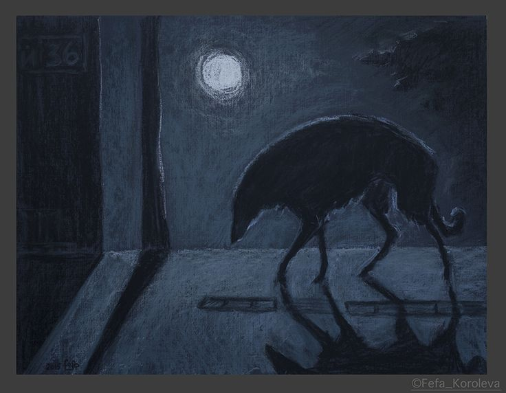 """Full moon"" Materials:  pastel, paper size: 47х36cm"