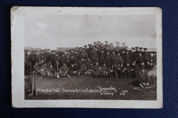 WW1 Era Photographic Postcard - Kings Liverpool Regiment 'Somewhere in France', £3.50