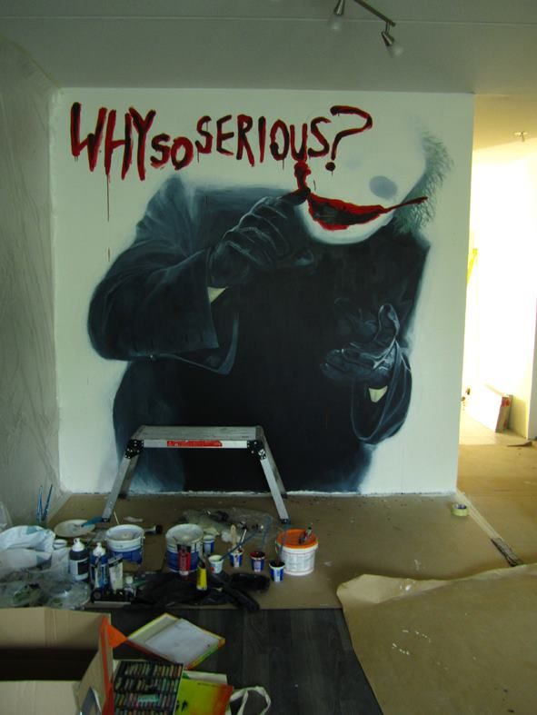 Brother-in-law is into movies so I painted this in his living room. Happy nightmares J!