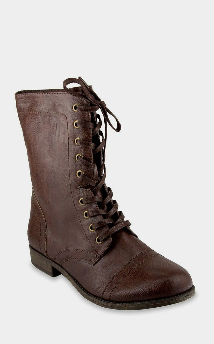 Brown Combat Boot. I have these and they fit weirdly.