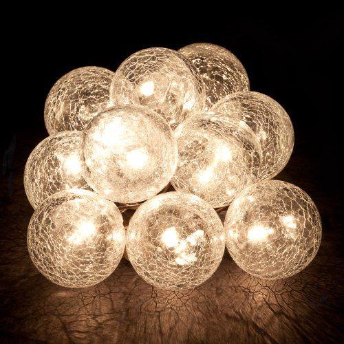 Gemmy Hanging Light String - Cracked Glass Balls Birando Gemmy Light Show http://smile.amazon ...