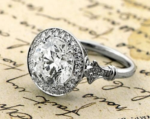 Vintage Inspired Engagement Ring {our vintage reprise setting}