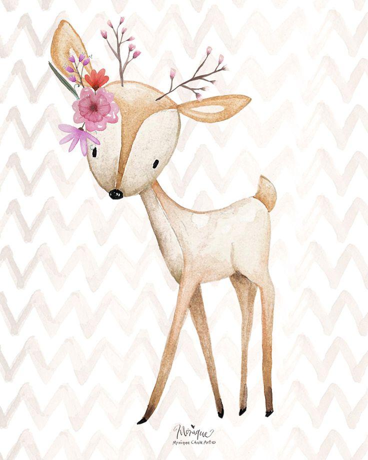 Nursery Woodland Animals Print Watercolor Set Of 4 Fox