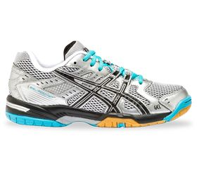 ASICS Women's GEL-Rocket 6 - Silver/Black/Iceblue Perfect for Volleyball | GEL Cushioning System