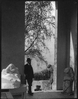 Rainer Maria Rilke in Meudon (Rodin's residence), c. 1906
