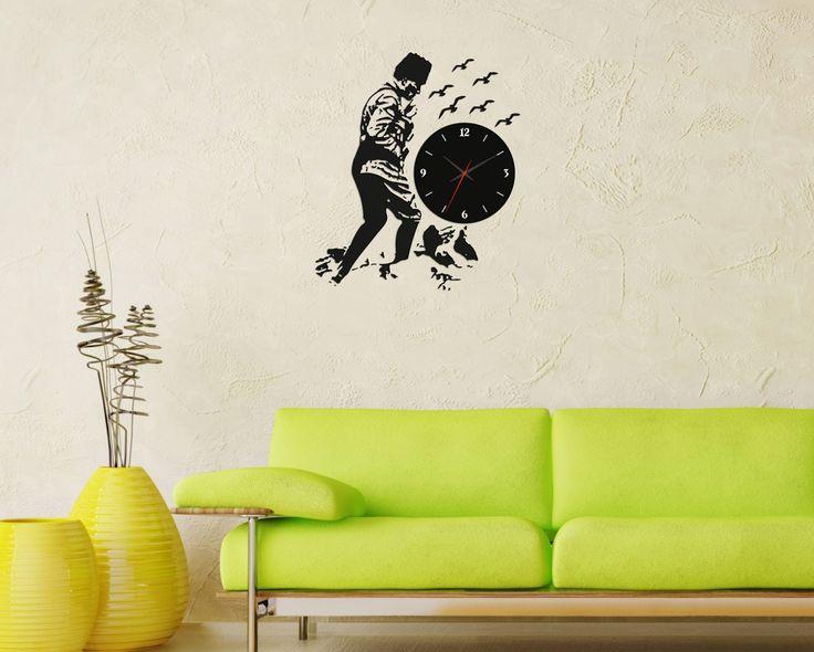 Dekoratif duvar saatleri ile yaşam alanınıza eğlence katın! #gumuskalemmagazalarinda #gumuskalemcomtr