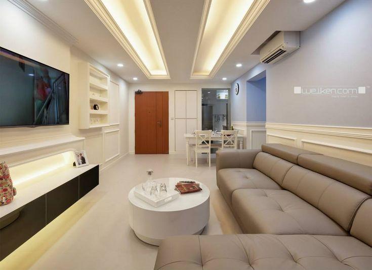 Hdb 4 room blk 333a anchorvale link interior design for Living room interior design singapore