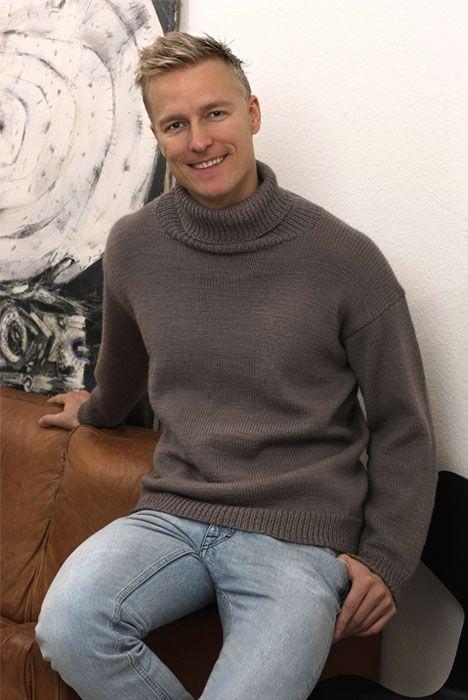 Strik selv: Smart herresweater - Hendes Verden
