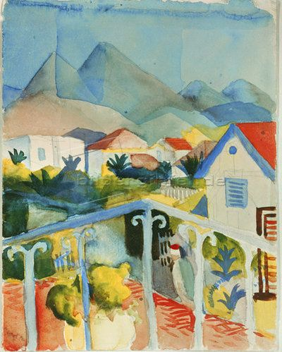 August Macke: Saint Germain bei Tunis. 1914