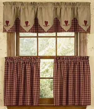 idea for curtains style for kitchen window