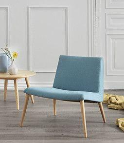 Nordic - Lænestol med slidstærkt Luis stof.