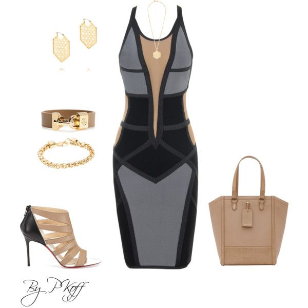 A fashion look from April 2014 featuring Christian Louboutin sandals, Reiss tote bags and Tory Burch bracelets. Browse and shop related looks.