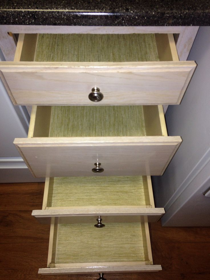 Faux Bamboo Liners for Kitchen Drawers & Cabinets