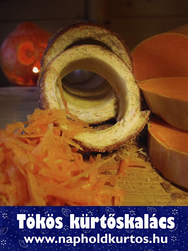 pumpkin chimney cake, tökös kürtőskalács, Halloween