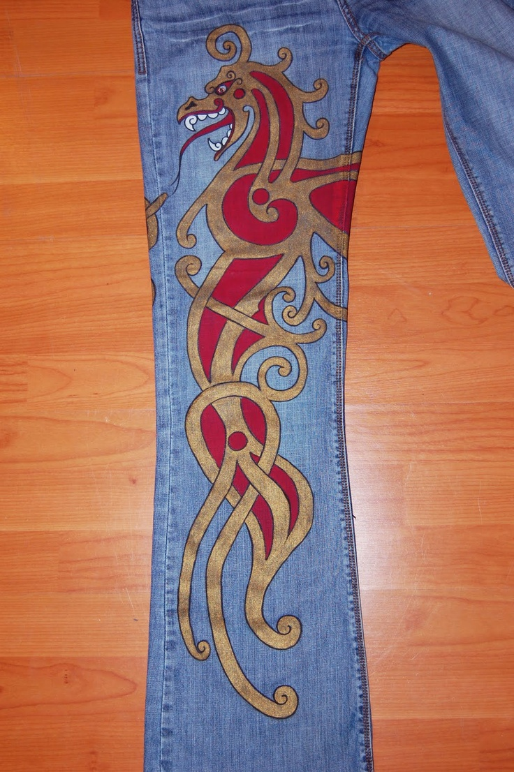 66 best images about art painted on denim on pinterest for Paint on clothes
