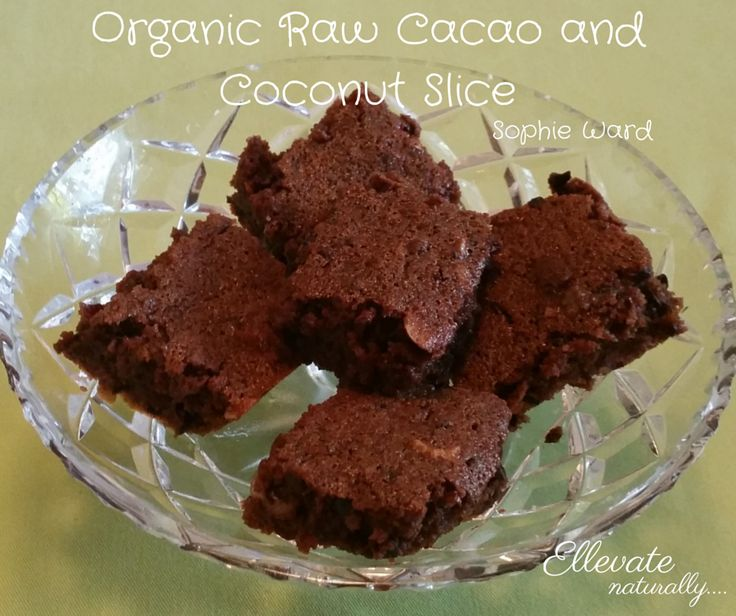 organic raw cacao and coconut slice  https://www.facebook.com/ellevatenaturally/photos/a.512672888762584.128986.512666322096574/893293110700558/?type=1&theater