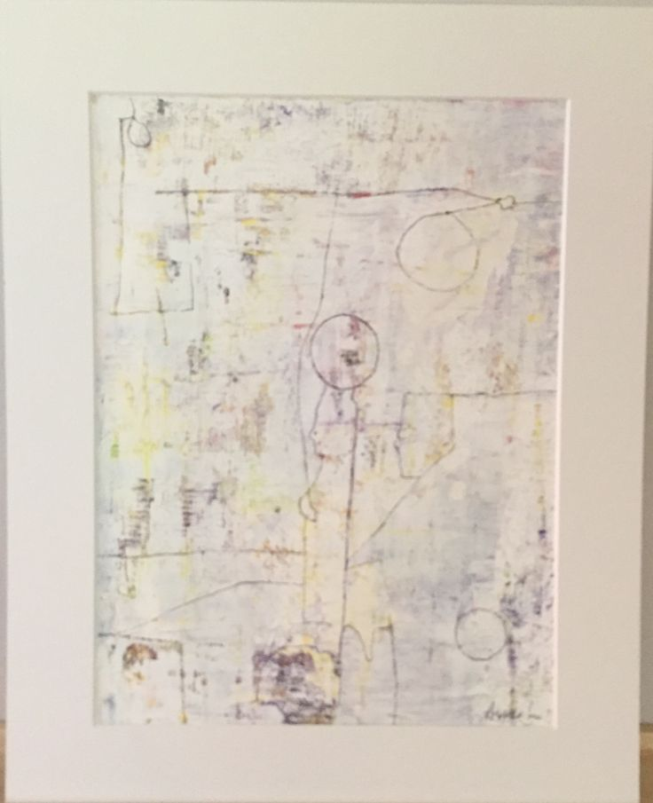 Akryl med passepartout 40x50cm