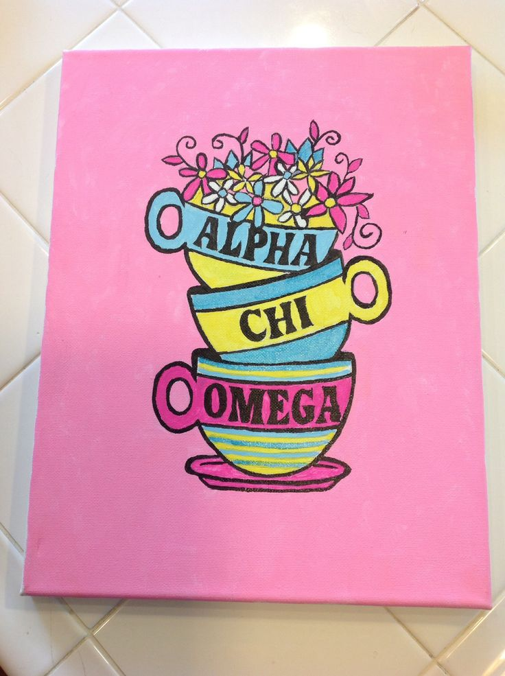 Alpha Chi Omega Canvas #mugs #AXO #biglittle #crafts