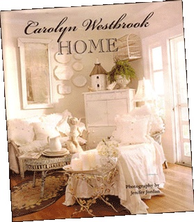 """Carolyn Westbrook Home""   by: Carolyn Westbrook  194 pages  In these pages Carolyn opens the doors of The Oaks, her beautiful Texas residence, to you. Through hundreds of stunning photographs, Carolyn shows you how easy it is to turn any house into a warm, personal haven that friends and family will want to linger in and return to often.  Buy Carolyn Westbrook Home on Amazon.com"
