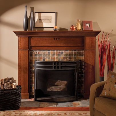 Craftsman Fireplace - traditional - living room - portland - Craftsman Design and Renovation