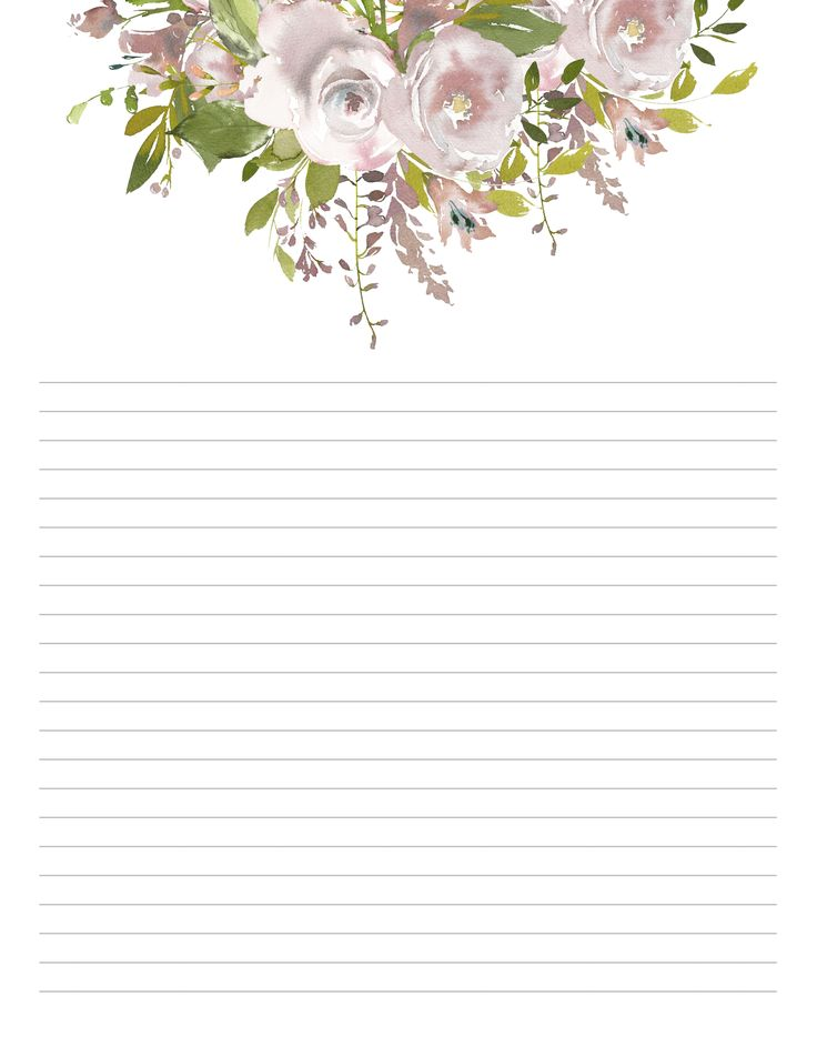 Blush Floral Stationary, set of 10, floral Writing Paper