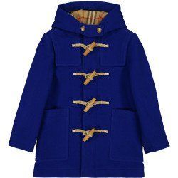 782a811d55c7 Boys Double Faced Duffel Coat in Blue