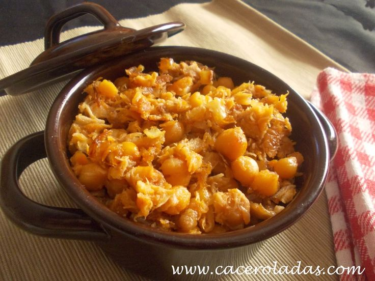 Caceroladas: Ropa vieja de (cocido madrileño) o carne mechada.
