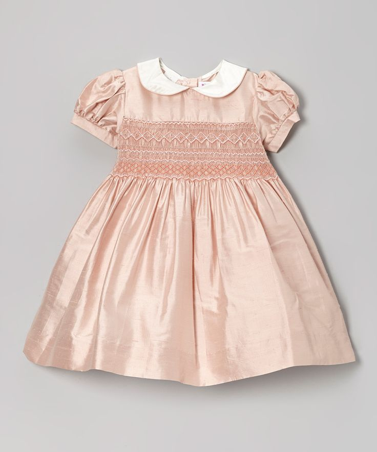 Pink Smocked Silk Dress - Toddler & Girls | Daily deals for moms, babies and kids