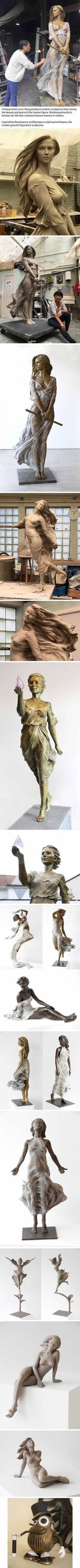 Life-Sized Female Sculptures Inspired by the Graceful Beauty of Renaissance Art