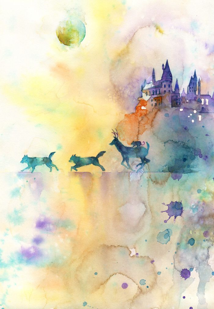 these stunning watercolor paintings of harry potter will. Black Bedroom Furniture Sets. Home Design Ideas