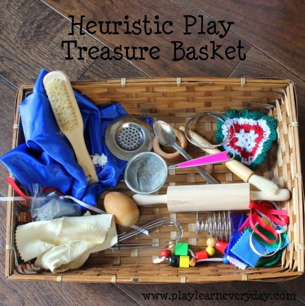 This Heuristic Play Treasure Basket is a great introduction for small babies to a variety of different sensory objects to explore and discover.