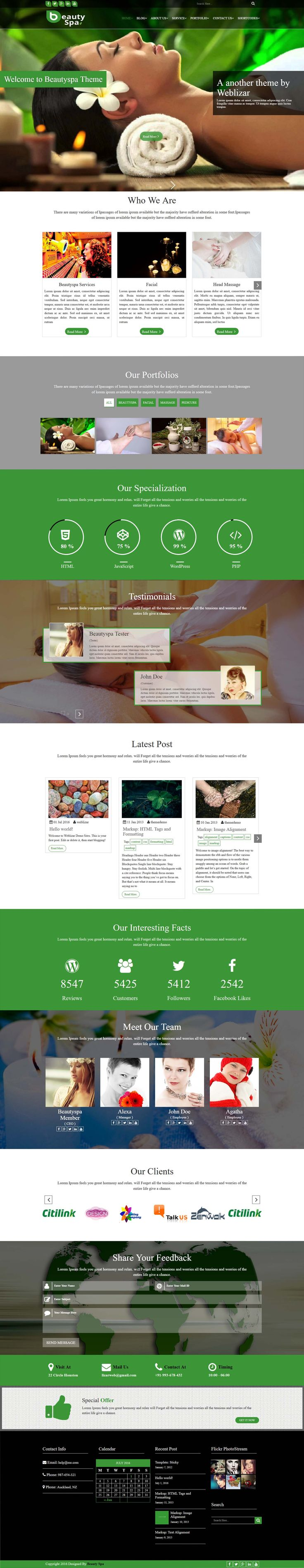 Beautyspa Premium WordPress Theme