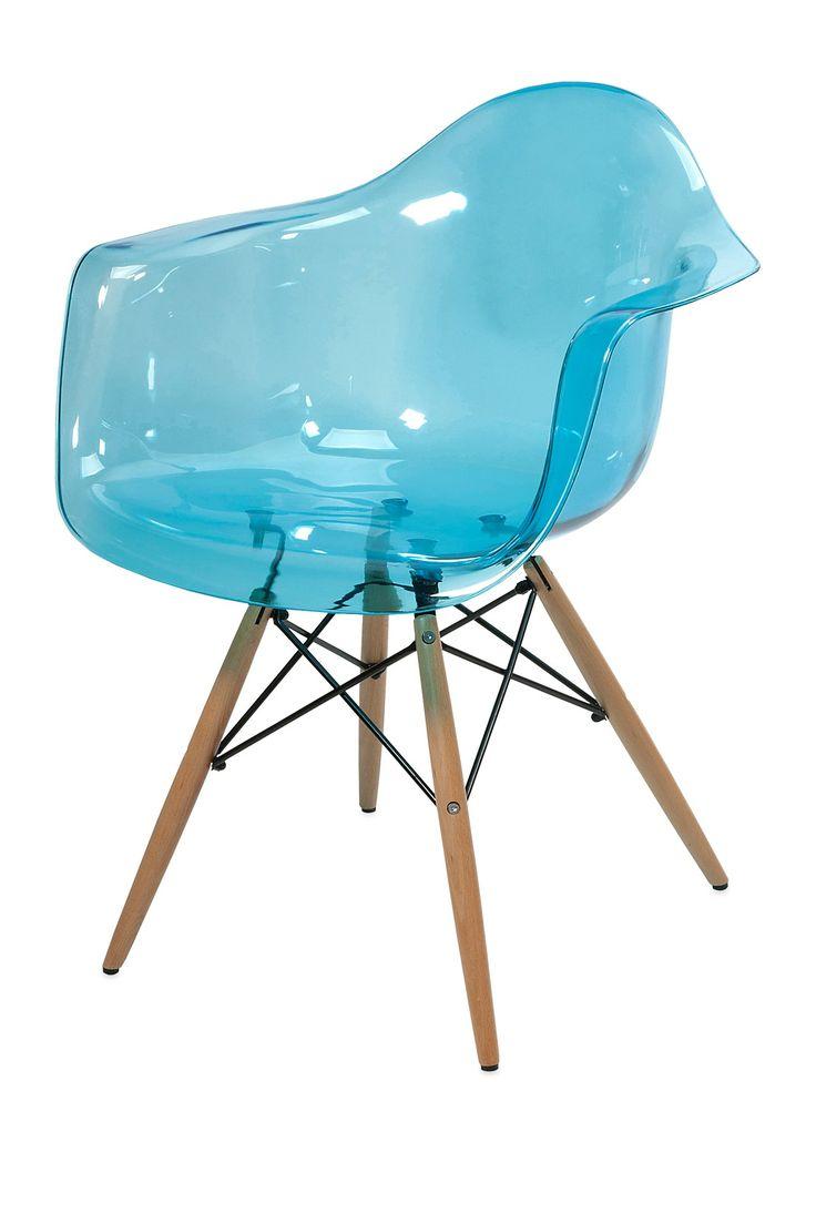 Declan Teal Blue Transparent Chair