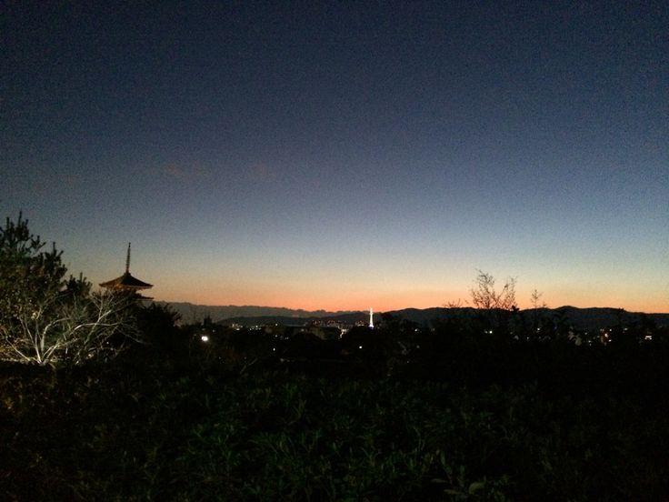 京都の夕焼
