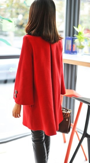 Double Breasted Red Modern Outerwear: Breast Red, Double Breast, Modern Outerwear, Red Modern