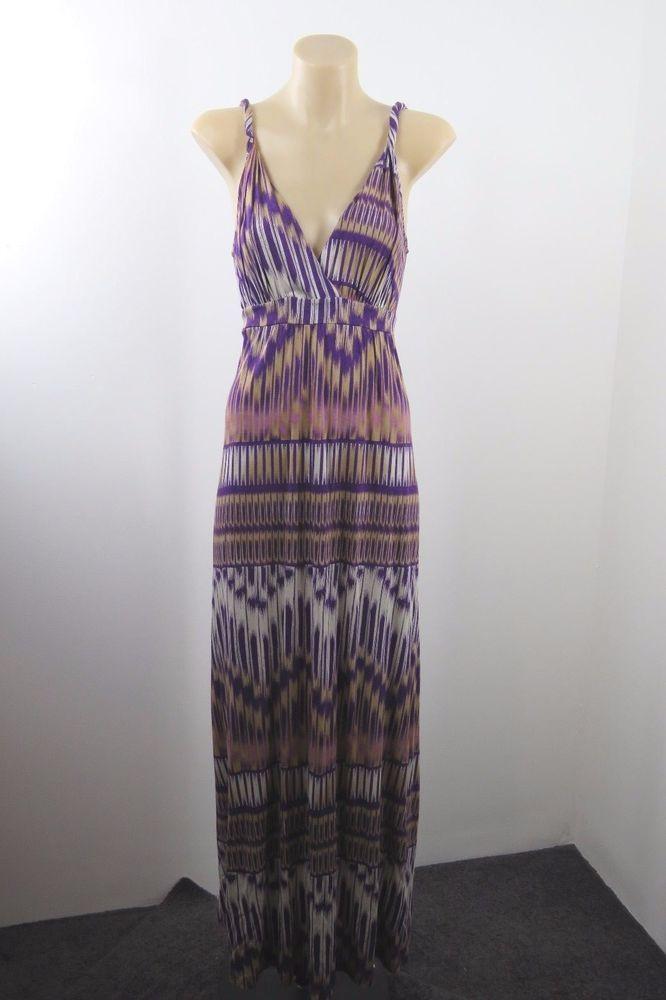 Size XS 8 Sussan Ladies Maxi Dress Peasant Casual Boho Beach Retro Festival Hip #Sussan #Maxi #SummerBeach