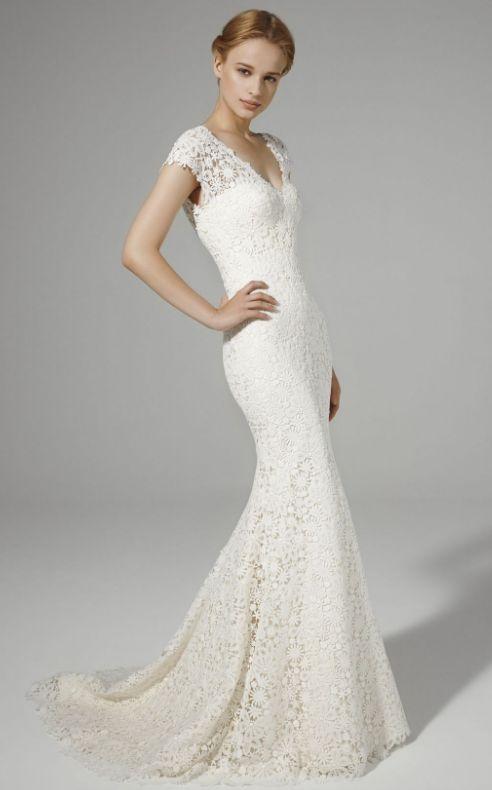 Featured Dress: Peter Langner; Wedding dress idea.