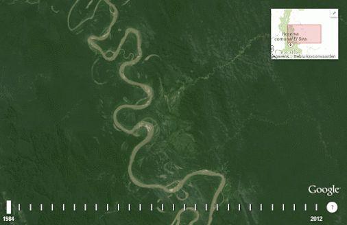 28 years makes a river look like a snake - Google Earth Blog